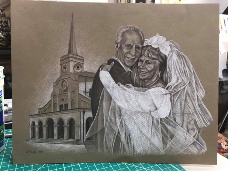50th Anniversary custom commissioned drawing